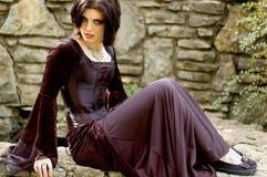 сексуальная женщина вампира Стоковые Фото