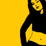сексуальная женщина вектора иллюстрация вектора