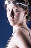 сексуальная женщина пловца Стоковая Фотография