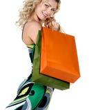 сексуальная женщина покупкы стоковая фотография