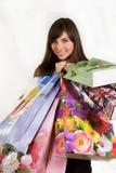 сексуальная женщина покупкы Стоковое фото RF