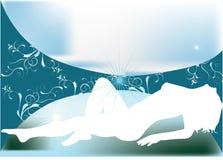 сексуальная женщина силуэта Стоковая Фотография RF