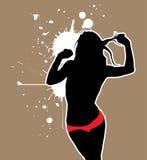 сексуальная женщина silhouet Стоковые Фото