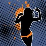 сексуальная женщина silhouet Стоковое Изображение RF