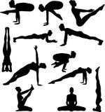 сексуальная йога silouettes Стоковые Фотографии RF