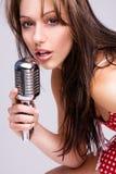 сексуальная певица Стоковое Фото