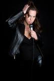 сексуальная певица стоковое фото rf