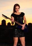 Сексуальная рок-звезда Стоковое Изображение