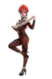 Сексуальная русская go-go девушка с длинней оплеткой Стоковые Фотографии RF