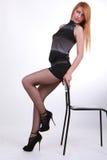 Сексуальная шикарная девушка Стоковое Изображение RF