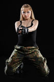 сексуальное девушки воинское Стоковые Фото