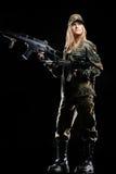 сексуальное девушки воинское Стоковая Фотография RF