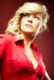 сексуальное девушки кофточки красное Стоковое фото RF