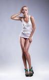 Сексуальное женское тело - съемка студии, серия фото Стоковые Фото