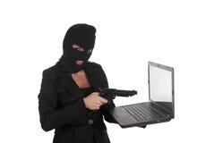 Сексуальное кибернетическое преступление стоковое фото