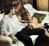 сексуальное пар красивое Стоковые Фото