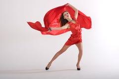 сексуальное повелительницы красное Стоковые Фото
