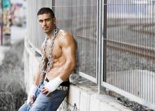 сексуальное человека грубое Стоковое Фото