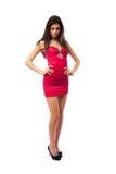 сексуальное шикарной повелительницы платья красное Стоковое Фото