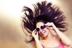 сексуальные солнечные очки Стоковое Изображение