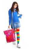 сексуальные детеныши женщины покупкы Стоковые Фото