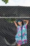Сексуальный доминиканский портрет девушки стоковая фотография rf