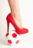 Сексуальный футбол стоковая фотография