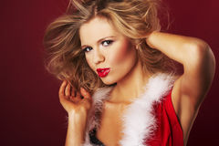 Сексуальный хелпер santa Стоковые Фотографии RF
