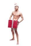Сексуальный человек рождества Стоковая Фотография RF