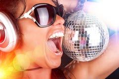 Сексуальный DJ и сфера Стоковые Фото