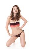 Сексуальная азиатская женщина бикини стоковые фотографии rf