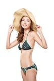 Сексуальная азиатская женщина бикини Стоковые Изображения