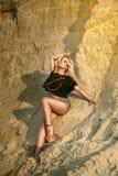 Сексуальная девушка в шортах Стоковое Изображение