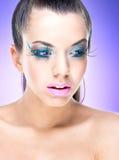Сексуальная девушка красоты с составом фантазии Стоковые Фото