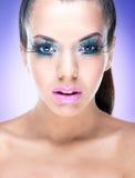 Сексуальная девушка красоты с составом фантазии Стоковое фото RF