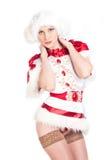 Сексуальная девушка снежка Стоковые Изображения RF