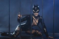 Сексуальная женщина в латексе Стоковое Фото