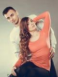 сексуальная женщина и красивый человек пары чувственные Стоковые Изображения RF