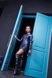 Сексуальная женщина красоты одевает стиль моды состава Стоковые Изображения RF
