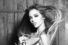 Сексуальная женщина очарования Стоковое фото RF