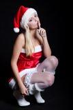 Сексуальная женщина Санта Клаус Стоковое Изображение