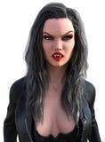 Сексуальная изолированная женщина вампира хеллоуина Стоковое Изображение