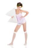 Сексуальная изолированная домохозяйка Стоковые Фотографии RF