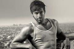 Сексуальная молодая мужская модель Стоковое Изображение