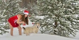 Сексуальная молодая Santa-девушка Стоковая Фотография RF