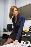 Сексуальная секретарша Стоковые Изображения