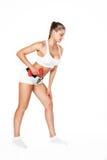 Сексуальная совершенная женщина фитнеса брюнет Стоковое Изображение RF