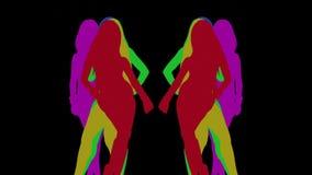 Сексуальная тень танцора, силуэт видеоматериал