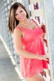 Сексуальная фотомодель девушки с коричневыми волосами Стоковое Изображение RF