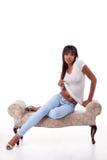Сексуальная этническая обольстительная женщина раздевая Стоковое Изображение RF